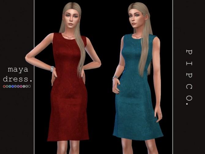 Sims 4 Maya dress by Pipco at TSR