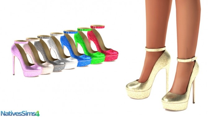 Platform Pump Ankle Strap & Sequin version at Natives Sims 4 image 2822 670x377 Sims 4 Updates
