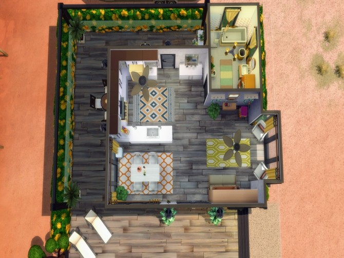 Bachelor/ette Pad starter by LJaneP6 at TSR image 283 670x503 Sims 4 Updates