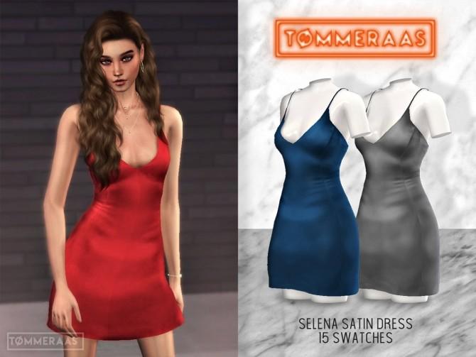 Selena Satin Dress at TØMMERAAS image 2831 670x503 Sims 4 Updates