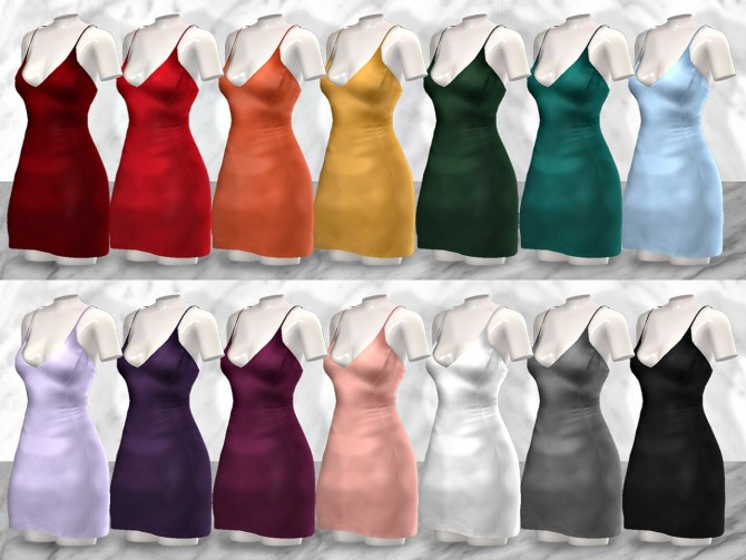 Selena Satin Dress at TØMMERAAS image 2842 670x503 Sims 4 Updates