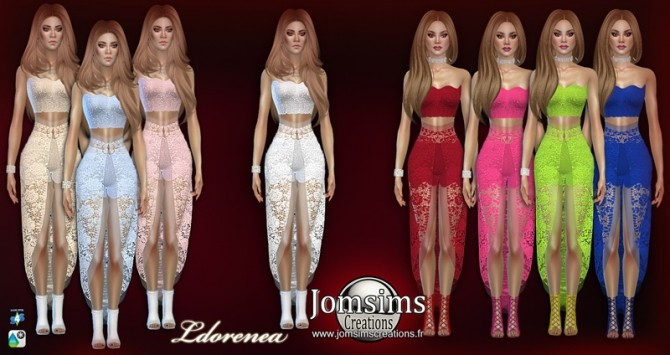 Sims 4 Ldorenea dress at Jomsims Creations