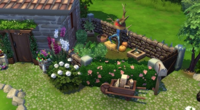 Sims 4 The good old times micro house by Pyrenea at Sims Artists