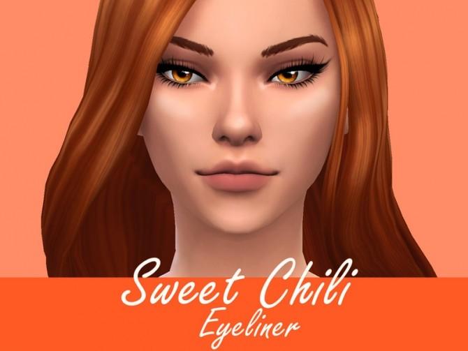 Sims 4 Sweet Chili Eyeliner by Sagittariah at TSR