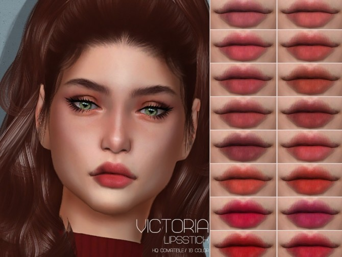Sims 4 LMCS Victoria Lipstick HQ by Lisaminicatsims at TSR