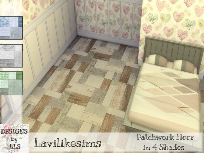 Sims 4 Patchwork Floors by lavilikesims at TSR