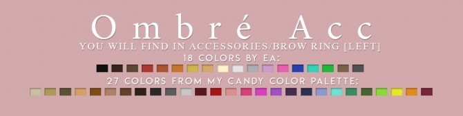 Sims 4 LOVE HAIR + OMBRE ACC at Candy Sims 4
