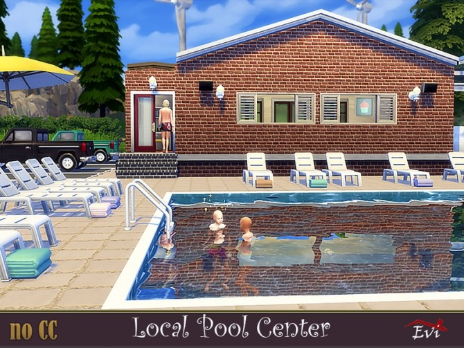 Sims 4 Local Pool Center by evi at TSR