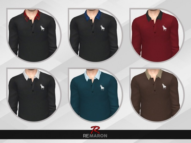Sims 4 Shirt Rolled Sleeve for Men by remaron at TSR