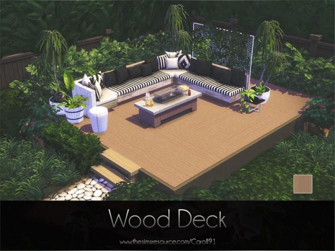 Sims 4 Wood Deck by Caroll91 at TSR