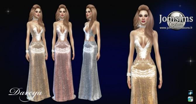 Sims 4 Darcya dress at Jomsims Creations