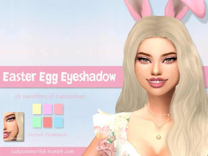 Sims 4 Easter Egg Eyeshadow by LadySimmer94 at TSR
