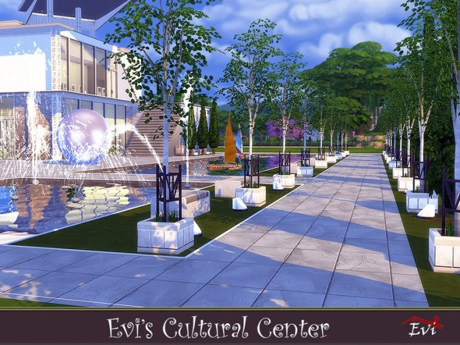Sims 4 EVI Cultural center by evi at TSR