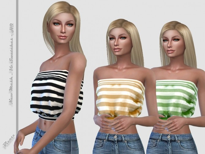 Strapless Top by pizazz at TSR image 3420 670x503 Sims 4 Updates