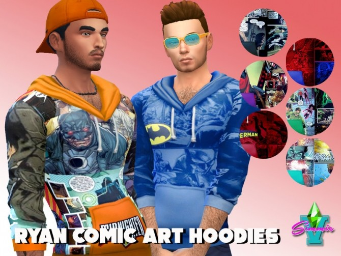 Ryder Comic Graphic Hoodies by SimmieV at TSR image 355 670x503 Sims 4 Updates