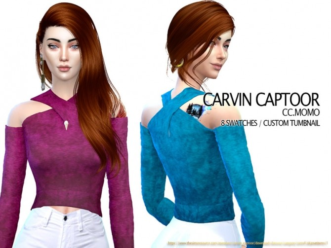 Sims 4 CC Momo Top by carvin captoor at TSR