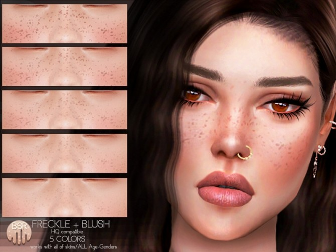 Freckles + Blush BH13 by busra tr at TSR image 3614 670x503 Sims 4 Updates