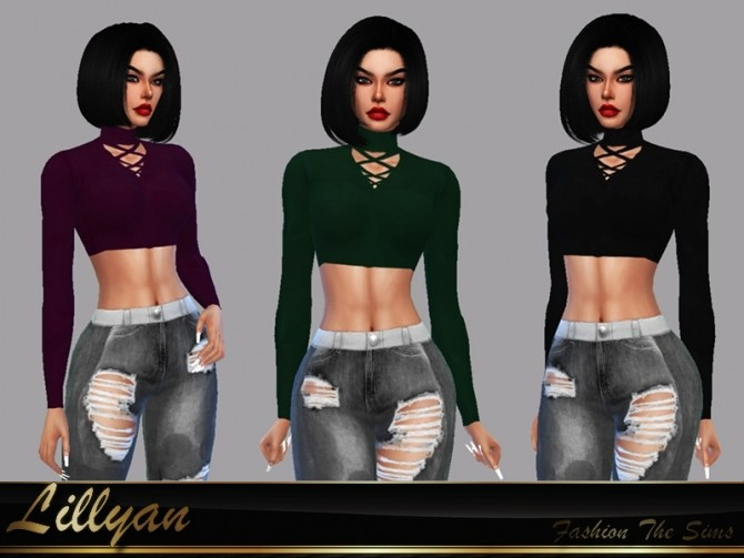Sims 4 Top Bruna by LYLLYAN at TSR