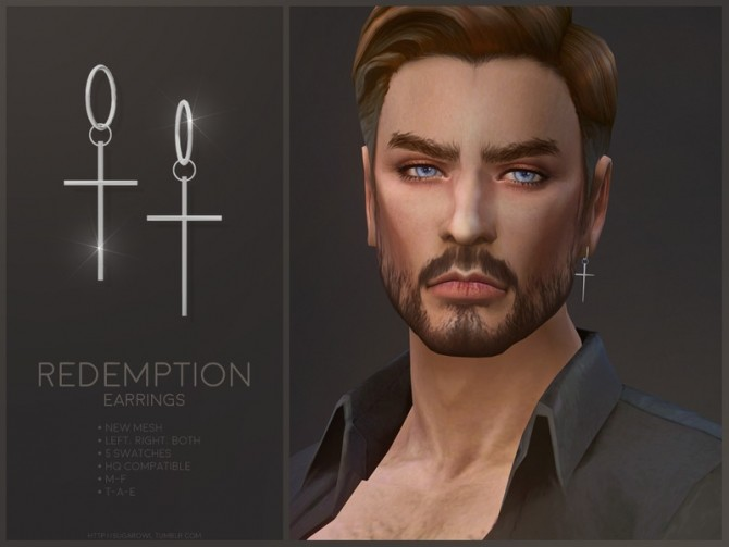 Sims 4 Redemption earrings by sugar owl at TSR