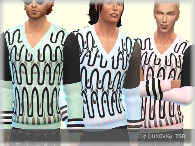Sims 4 Sweater Male by bukovka at TSR