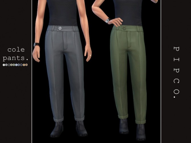 Sims 4 Cole pants (male) by Pipco at TSR