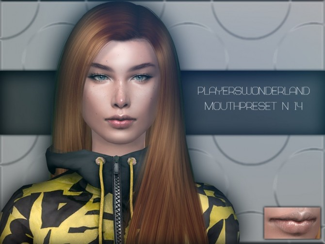 Sims 4 Mouthpreset N14 by PlayersWonderland at TSR
