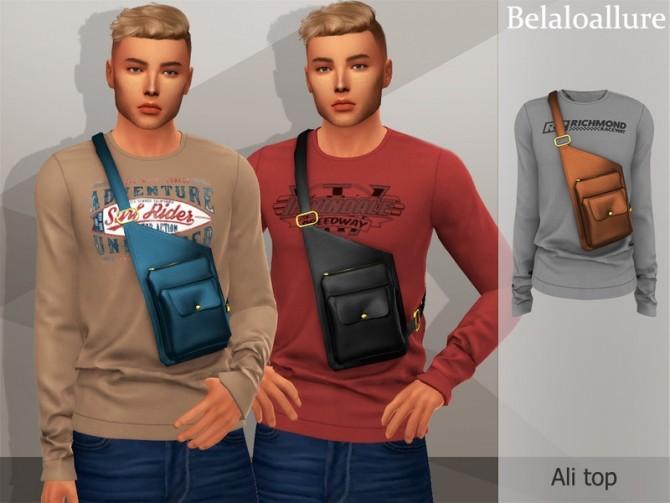 Sims 4 Belaloallure Ali top by belal1997 at TSR