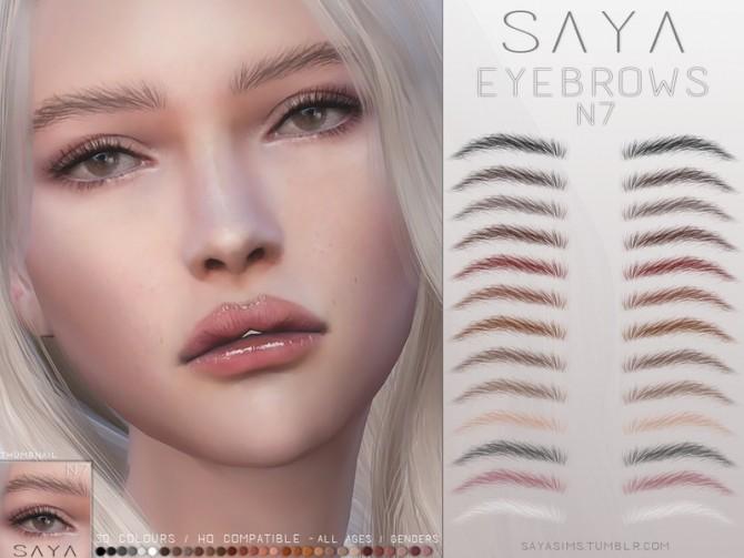 Eyebrows N7 by SayaSims at TSR image 386 670x503 Sims 4 Updates