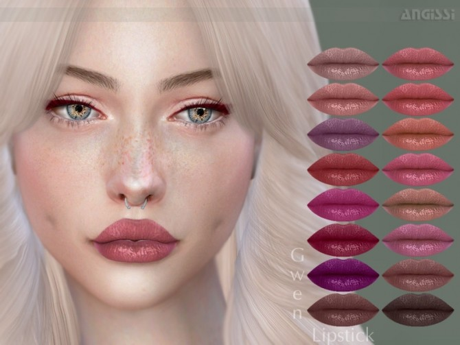 Sims 4 Gwen Lipstick by ANGISSI at TSR