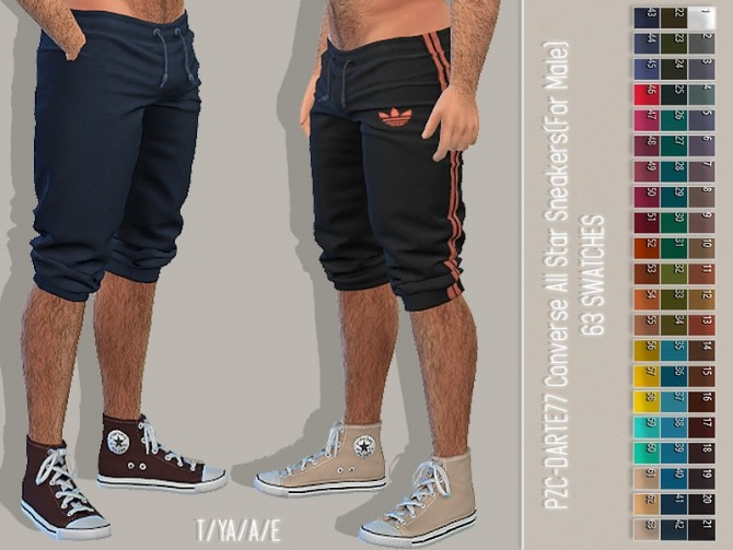 Sims 4 Darte77 Converse All Stars Recolour Male by Pinkzombiecupcakes at TSR