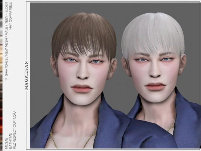 Sims 4 Bathtime Hair by magpiesan at TSR