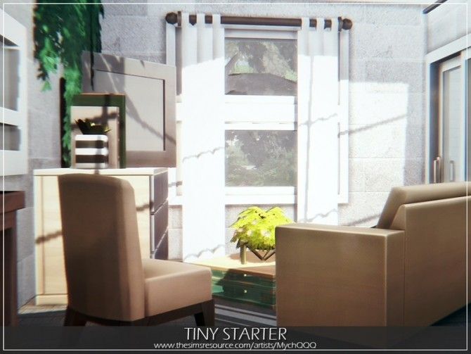 Tiny Starter house by MychQQQ at TSR image 4015 670x503 Sims 4 Updates