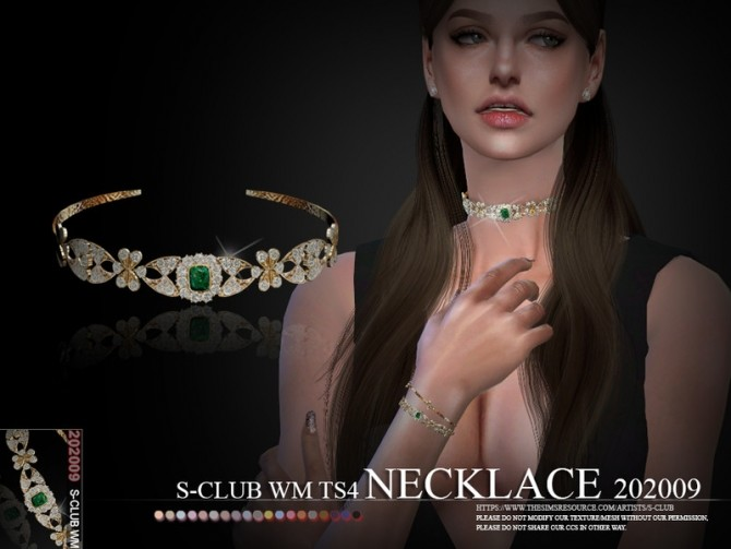 Sims 4 Necklace 202009 by S Club WM at TSR