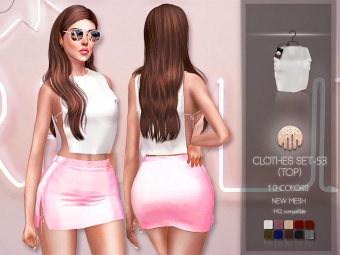 Sims 4 Clothes SET 53 TOP BD207 by busra tr at TSR