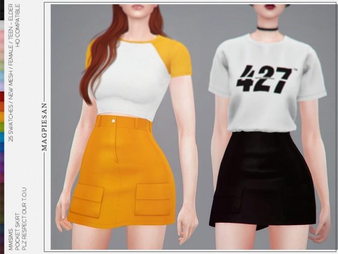 Pocket skirt by magpiesan at TSR image 415 670x503 Sims 4 Updates