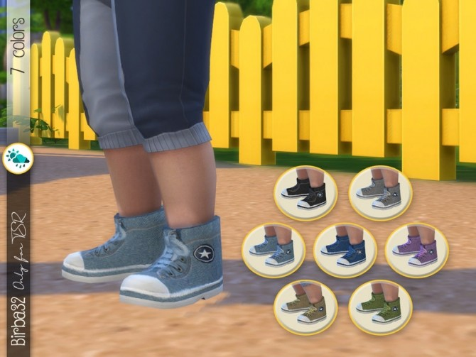 Denim Sneakers by Birba32 at TSR image 4221 670x503 Sims 4 Updates
