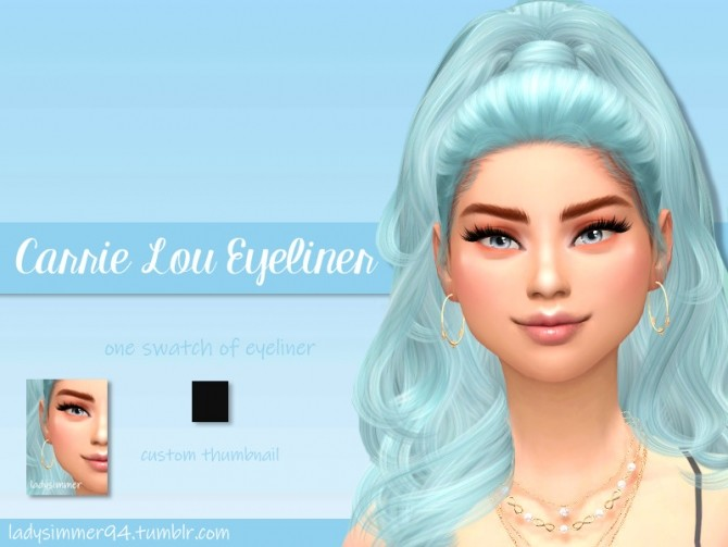 Sims 4 Carrie Lou Eyeliner by LadySimmer94 at TSR