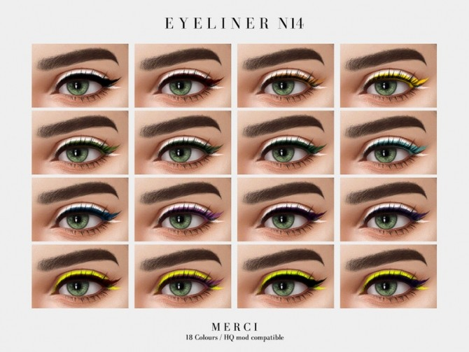Eyeliner N14 by Merci at TSR image 4322 670x503 Sims 4 Updates