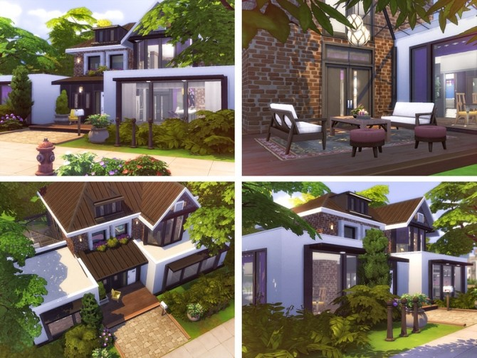 Sims 4 Phyllis cozy cottage by Rirann at TSR