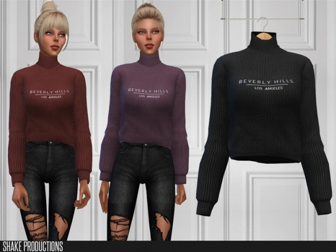 Sims 4 394 Sweater by ShakeProductions at TSR