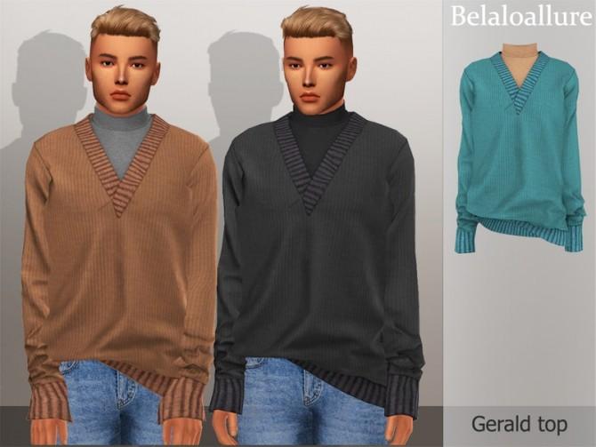 Sims 4 Belaloallure Gerald top by belal1997 at TSR