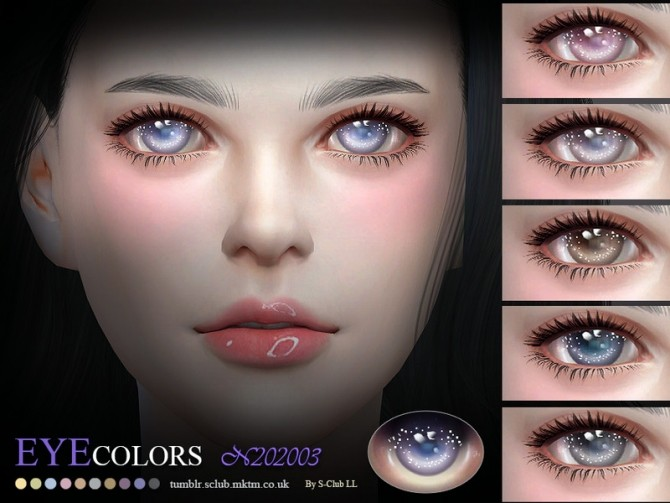 Sims 4 Eyecolors 202003 by S Club LL at TSR