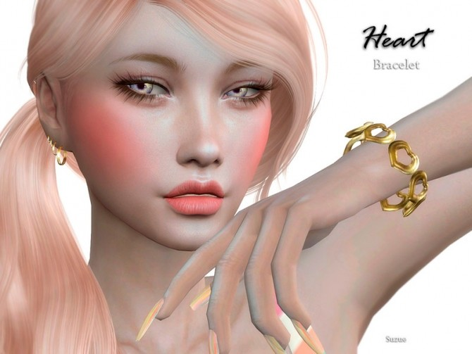 Heart Bracelet by Suzue at TSR image 462 670x503 Sims 4 Updates