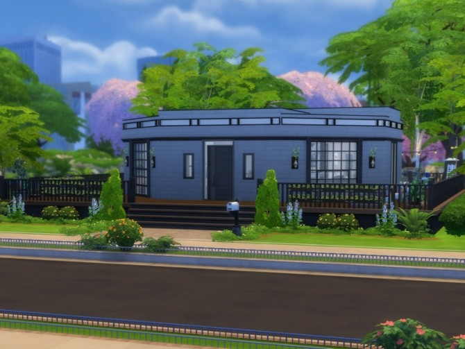Sims 4 Octagonal House by FancyPantsGeneral112 at TSR