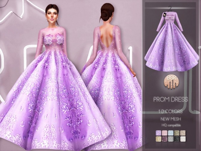 Sims 4 Prom Dress BD215 by busra tr at TSR