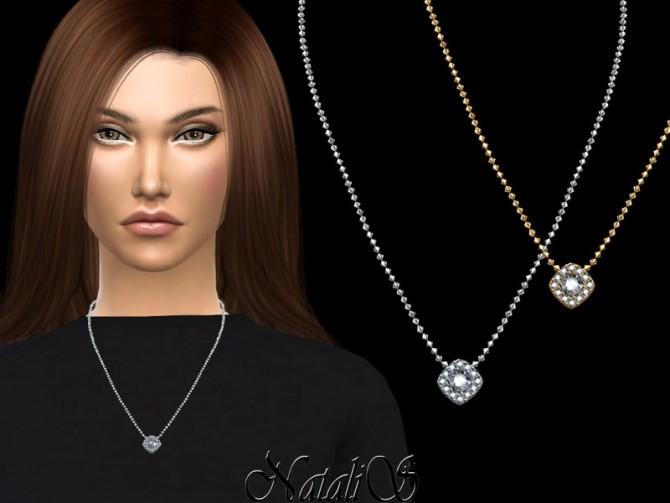 Sims 4 Square halo pendant by NataliS at TSR
