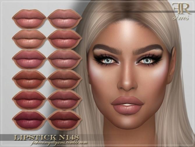 Sims 4 FRS Lipstick N148 by FashionRoyaltySims at TSR