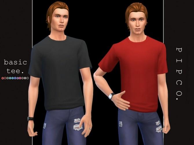 Sims 4 Basic tee by Pipco at TSR