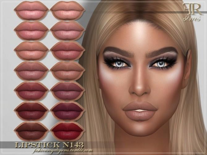 Sims 4 FRS Lipstick N143 by FashionRoyaltySims at TSR