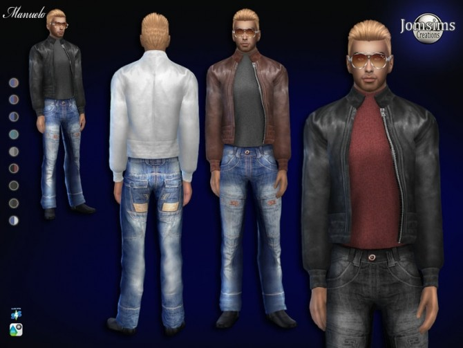 Sims 4 Manuelo outfit by jomsims at TSR